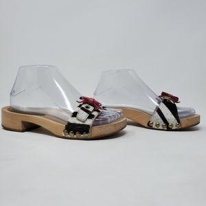 Miu Miu wooden Slide Sandal